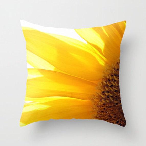 Sunfower 2 Photo Throw Pillow, Throw Pillow, Flower Pillow, Botanical, Photography, Flower Photography