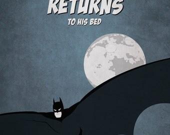"Batman Returns - Home Decor Kids Poster/Print 8x10"" or A4"