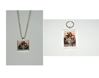 The Cramps Glass Pendant Necklace and/ or Keychain