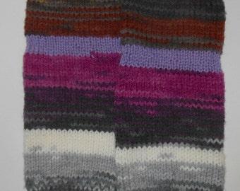Purple stripped leg warmers,boot cuffs, lavender, lilac shade