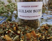 SICILIAN BLEND - hand blended - artisan herbal  mix - aromatic and spicy herbal blend