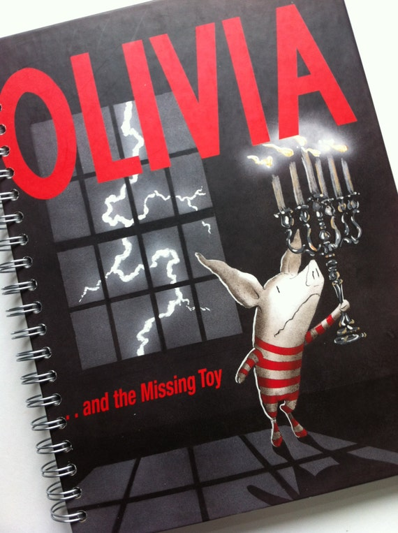 oliviaand the missing toy recycled journal notebook