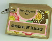Personalized prayer book of cards gift for baby shower birthday baptism confirmation Christian Bible teacher