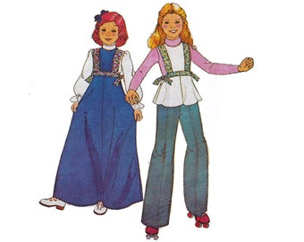 """1970's McCall's 5409 Girl's Jumper, Top Size 6 