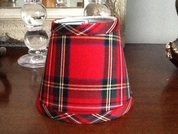Christmas Red tartan chandelier lampshade plaid shade tartan