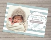 Photo Birth Announcement - For Baby Boy or Girl