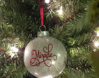 Miracle Glass Christmas ornament