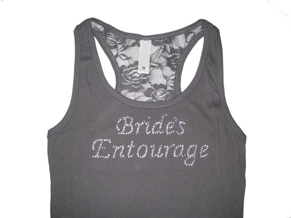 Brides Entourage. Bridesmaid Gift Handmade. Bridesmaid Tank Top Shirt. Bride Tank Top Shirt.  Maid of Honor.Sizes Small to XXXL.