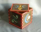 Feminine Goddess Hardwood Inlay Box - Divine Feminine - Celtic Symbols - Life, Renewal, Mother