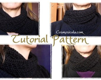 Pattern Tutorial Pdf in English Moebius Infinity Neck warmer/handband. Also available in Italian