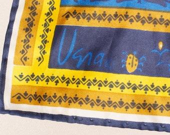 Vera Scarf Ladybug logo Signed.