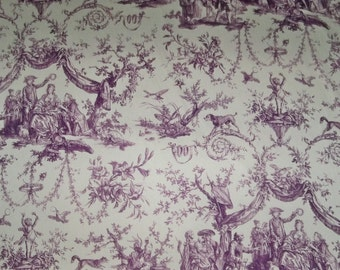 SCHUMACHER Le Couronnement De La Rosiere FRENCH TOILE Fabric 10 yards Violet