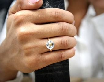 SALE - 14k gold ring,topaz ring,gemstone ring,stacking stone ring,gold stack ring,delicate thin ring