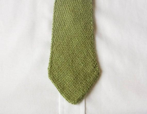 Knit Necktie Pattern : PDF Knitting Pattern - Mens Tie, Bias Knit Tie Knitting Pattern, Knit Necktie...