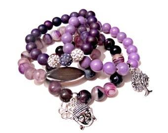 Womens Beaded Bracelet. Buddha Bracelet. Yoga Bracelet. Beaded Bracelet. Boho Bracelet. Charm Bracelet.