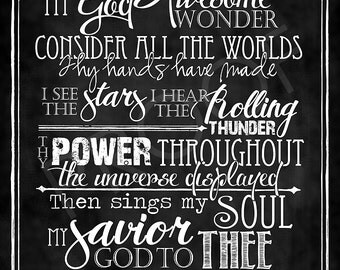 how great thou art lyrics pdf