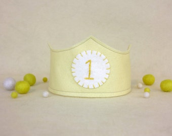 First Birthday Crown - Yellow