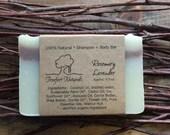 Rosemary Lavender Head to Toe Bar - Handmade soap, Cold Process, All Natural soap, natural shampoo, Shampoo Bar