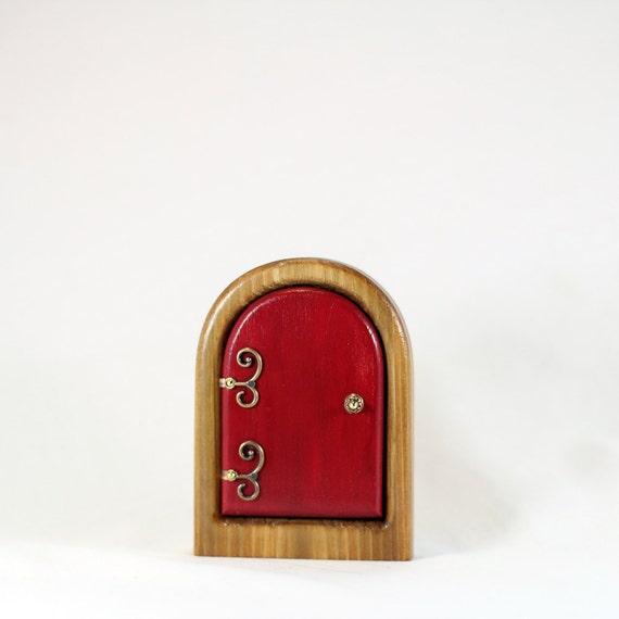 Little red fairy door for home and garden for Red elf door