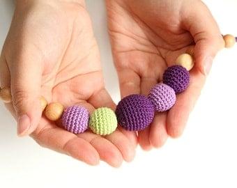Super fashion Juniper Nursing mom necklace - purple, lavender, green