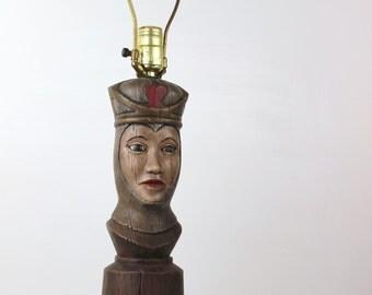 Vintage Queen of Hearts Lamp