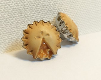 Adorable, Apple Pie, Hand made studded earrings