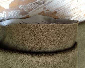 "Upholstery - 100% Polyester Ultra Suede  1 yd (36"") x 25"" Olive Green"