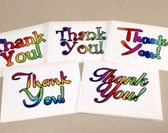 Thank You Note Cards