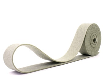 Wool Felt - 100 Percent Wool Felt Ribbon in color CEMENT - 3/4 Inch X 2 Yards - Merino Wool Felt - Gray Ribbon - Cement Ribbon