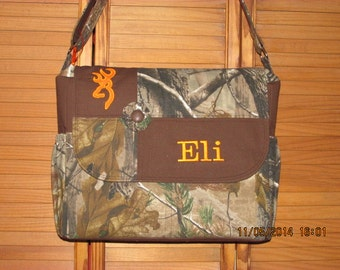 Handmade Realtree Or Mossy Oak Camo Diaper Bag  with Free Embroidery!