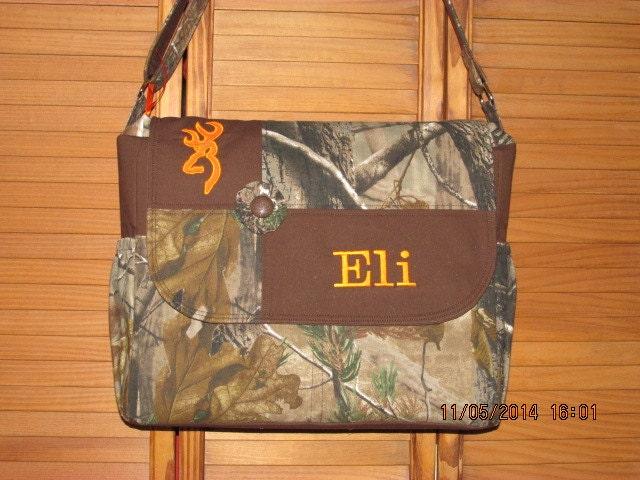 Handmade Diaper Bags : Handmade realtree or mossy oak camo diaper bag with free