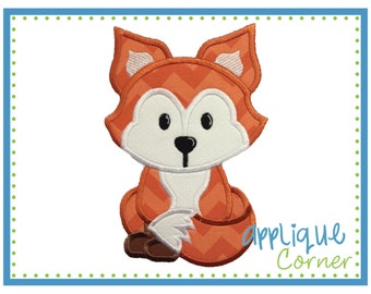 INSTANT DOWNLOAD 2071 Fox Baby Applique design in digital format for embroidery machine by Applique Corner