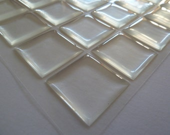 25 x  Square 25mm Pu (polyurethane) stickers
