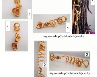 Duo gold wire locs jewelry