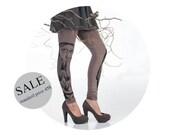 20% SALE - Cafe latte: ash brown leggings with black girl print