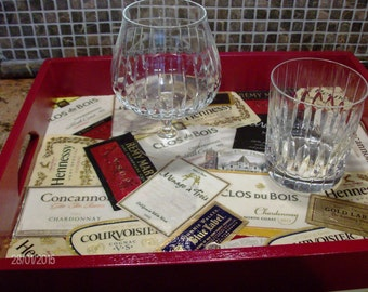 "Decoupage ""Cocktail Time"" Tray"