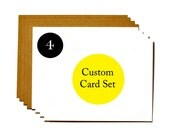 Set of 4 cards - save 10% sale!