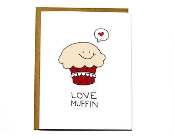 Valentine's Day card - Love muffin