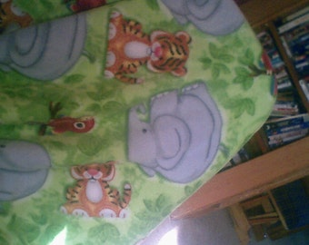 animal tye blanket