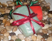 Lavender scented gift soap;  Moisturizing soap; Vitamin E spa soap; Sea - green glycerin soap; stocking stuffer