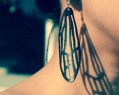 Alluring Recycled Jewelry, bike tube Dragonfly Earrings, black butterfly wings