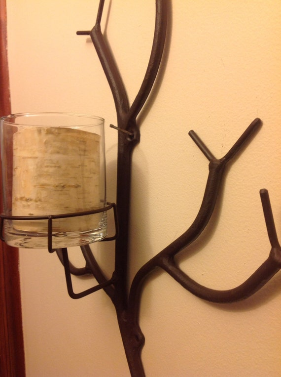 Unique Wall Sconces Candle Holders : Sconce Branch candle holder unique wall mounted tree limb