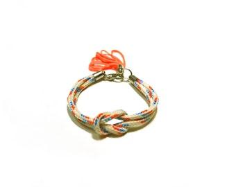 Climb rope bracelet with tassel