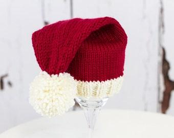 Knitting Pattern/DIY Instructions - Baby Santa Hat