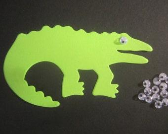 50 Alligator Crocodile Animal Craft Paper Die Cut Shape Zoo DIY Kit Decor Party Supply Lot