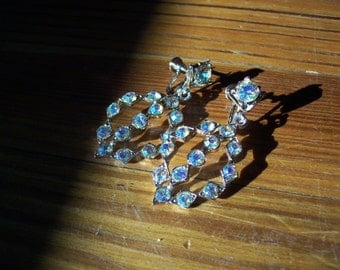 Vintage Rhinestone Screw Earrings