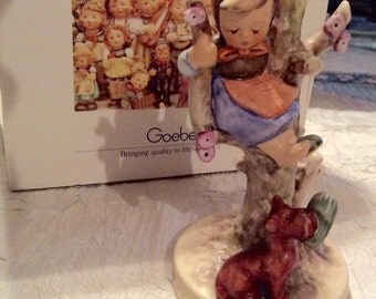 """Vintage Collectible Goebel M.J. Hummel #944 """"Out of Danger"""" Made in West Germany with Original Box 56/B"""