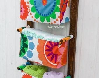 diaper caddy wall hanging organizer nursery storage bins kids room nursery fabric baskets