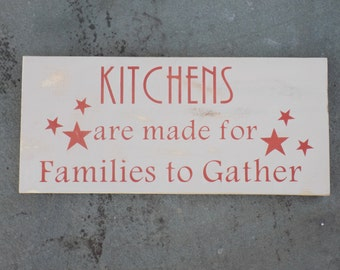 Kitchen Wall Decor - Wood Signs, Kitchen Signs, Kitchen Wall Art, Rustic Signs, Home Accents, Gifts For Her, Rustic Wall Decor,