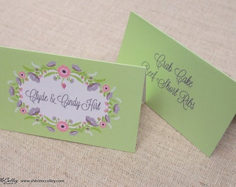 Wedding Place Cards, Personal Cards, Signature Fragrance Wedding Name/Place Cards Deposit